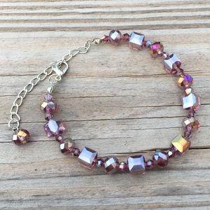 Jewelry - Austrian Crystal plum with gold bracelet